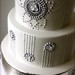 1920's Inspired Wedding Cake Closeup