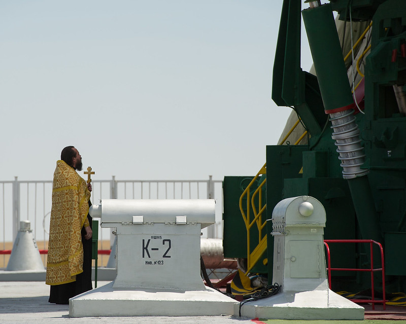 Expedition 32 Soyuz Rocket Blessing (201207130005HQ)