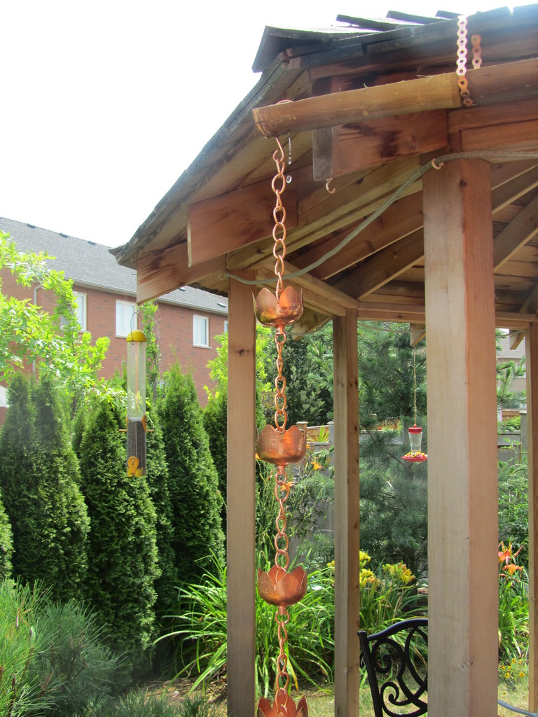 Rain Chain at end of Bamboo Gutter | JP Newell | Flickr