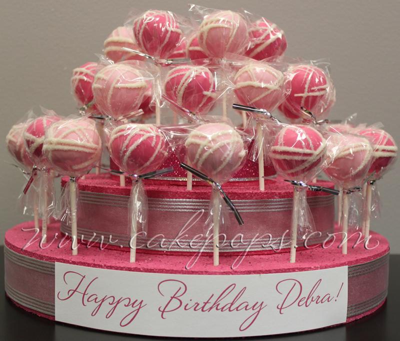 Pink Happy Birthday Cake Pop Display Cakepops Candys