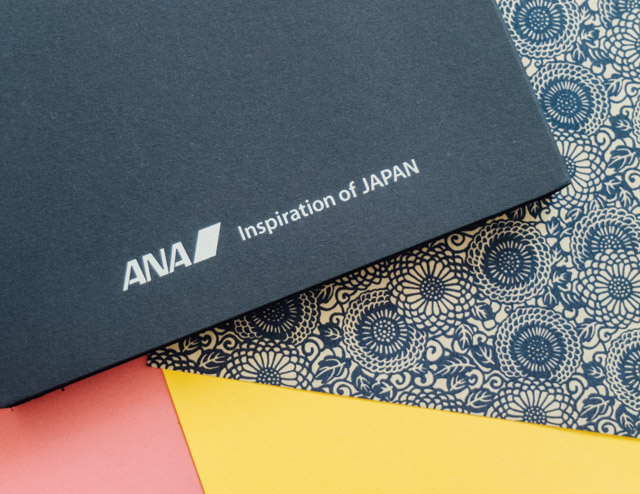 ANA moleskine cover and origami paper