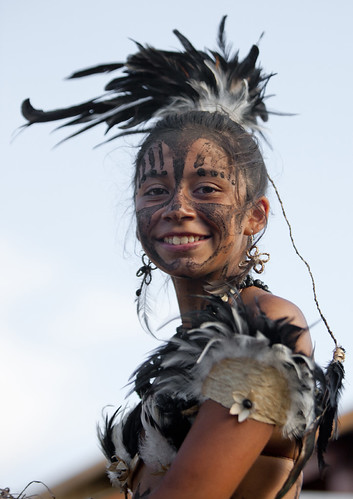 Beautiful Woman During Carnival Parade, Tapati Festival, Easter Island, Chile | by Eric Lafforgue