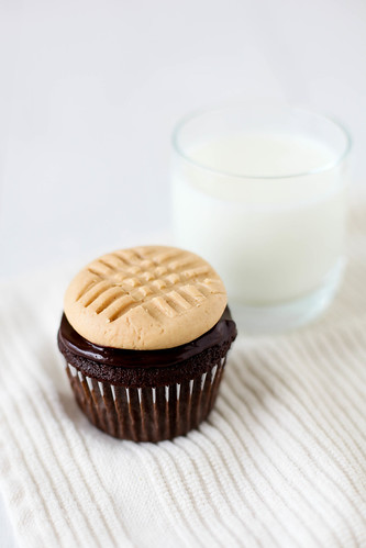 Chocolate Cupcakes with Peanut Butter Cookie Frosting | Annie's Eats | by annieseats