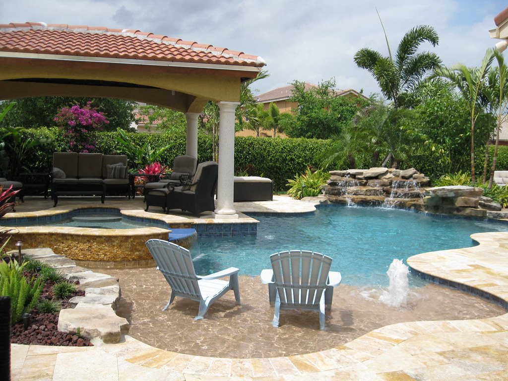 Pool builders inc davie fl freeform swimming pool for Pool designs florida