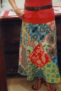 Amy Butler patchwork skirt | by naturemomm