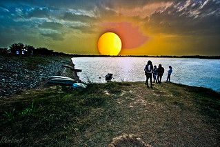 Sunset at Sukhna Lake !!! | by Rambonp:loves all creatures of this universe.