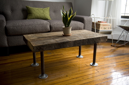Coffee Table With Pipe Legs Fun To Use Elements Other
