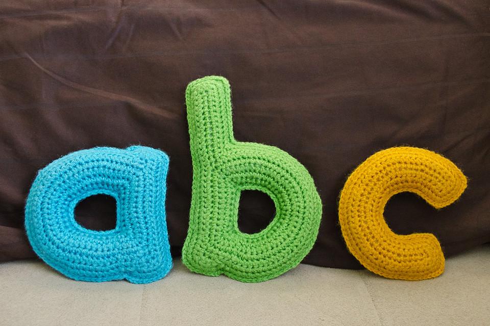 Stuffed Alphabet Letters