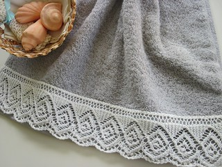 Lace-edged Towel | by heartstringsfiberarts