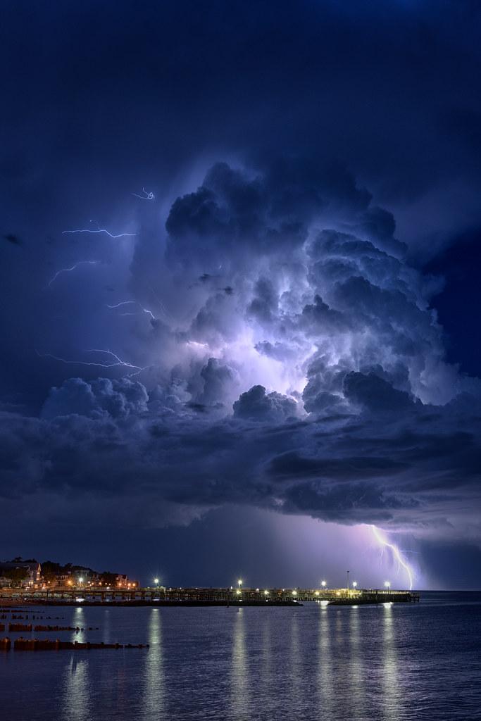 Lightning Strike Over The Chesapeake Bay North Beach Md