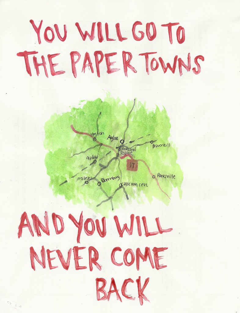 Book Cover Paper Quotes ~ Paper towns day  ed ingle flickr