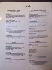 2012 Menu Tioga Pass Lodge  8-27-2012 ONE OF THREE PAGES TO THE MENU - to read it better LEFT CLICK ON THE IMAGE