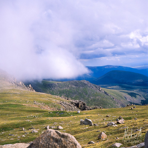 Low clouds over the Mountains - Mt Evans | by Nickie A Photography