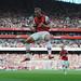 Lukas Podolski celebrates