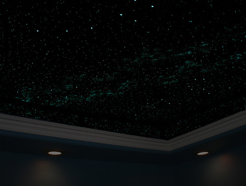 home office doubles as a relaxation room with a night sky flickr. Black Bedroom Furniture Sets. Home Design Ideas