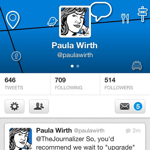 Just upgraded my twitter profile with a fancy new header graphic @paulawirth | by Paula Wirth