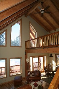 Luxurious Log Cabin Living Room and Loft | DoneRight ...