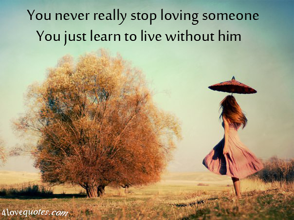 you never stop loving someone