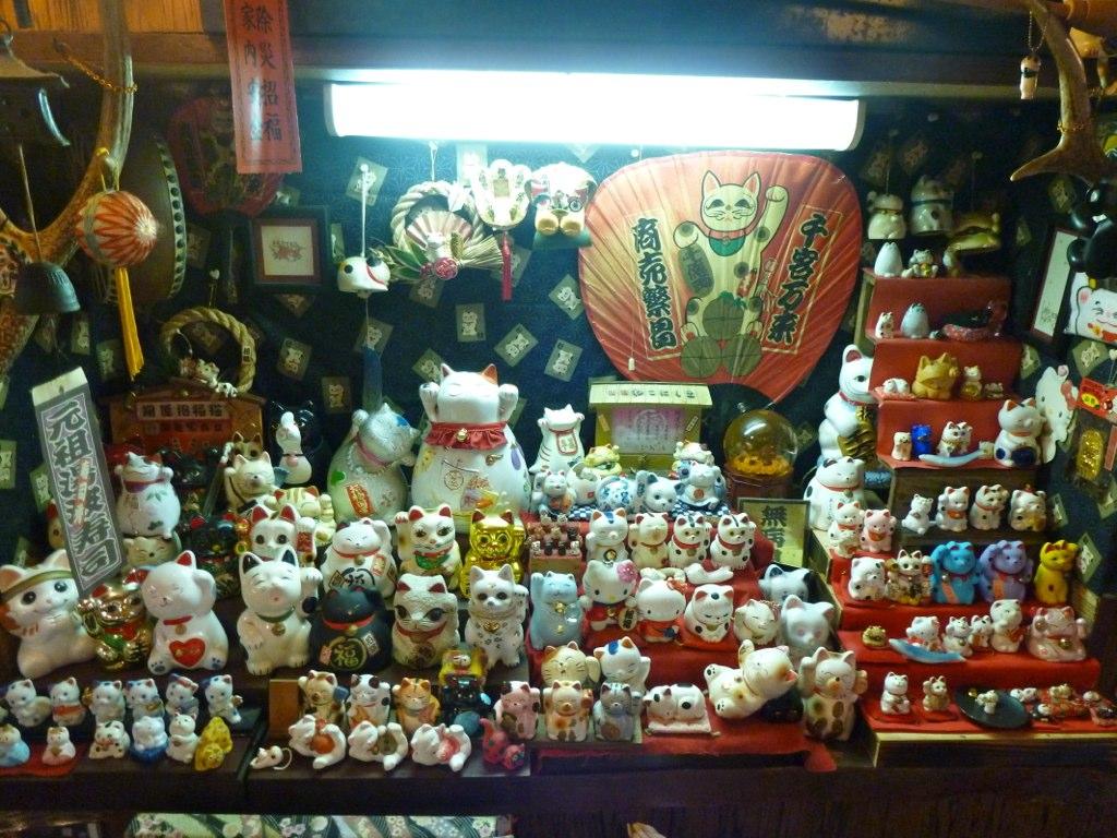 cat shrine in a nikko restaurant gd preston flickr. Black Bedroom Furniture Sets. Home Design Ideas