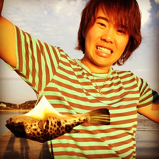 Went fishing for aji but got only blowfish and one unknown fish | by moochan2012
