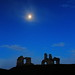 Sandal Castle moonlight at dawn