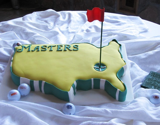 Golf R 400 >> Golf Masters Groom's Cake | Groom provide golf balls, but fl… | Flickr - Photo Sharing!