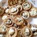 Blurry caramelised garlic tartlets