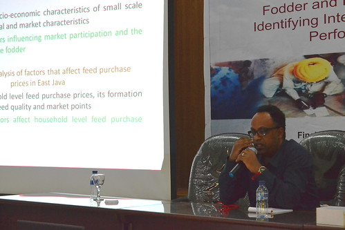 ILRI economist Sirak Bahta talks about factors that affect purchase/sale of fodder/feed