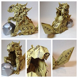 Robotic shishi/komainu. | by Joseph Wu Origami