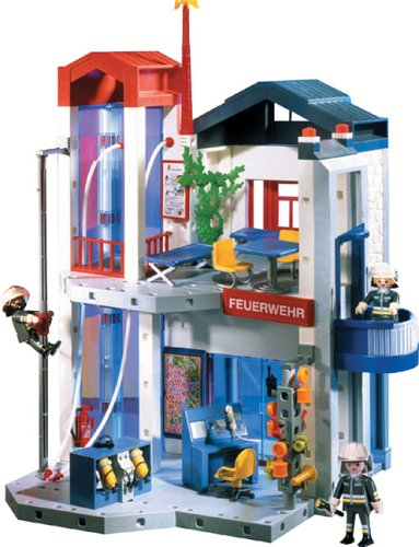 Playmobil 3885 fire station headquarters save on playmobil flickr - Caserne de police playmobil ...