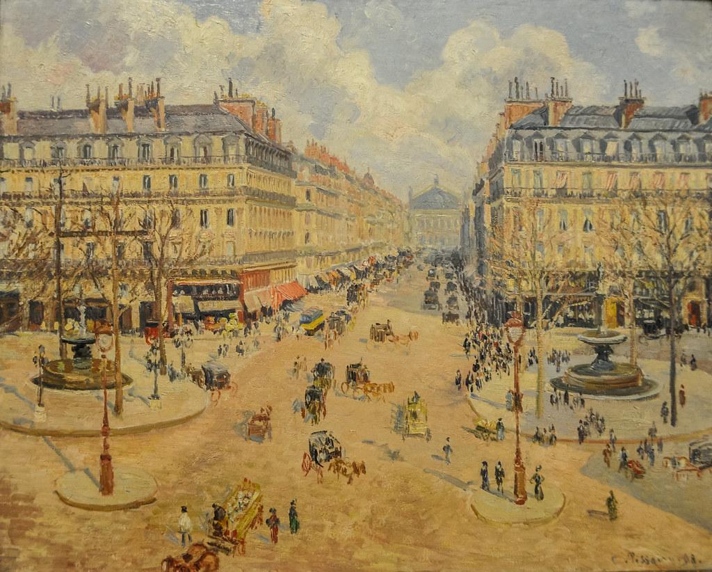 Camille Pissarro Avenue De L Opera Morning Sunshine 18