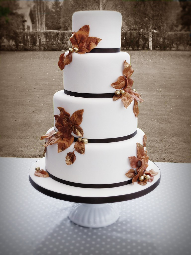 fall wedding cake pictures autumn wedding cake loved to make this cake 14164
