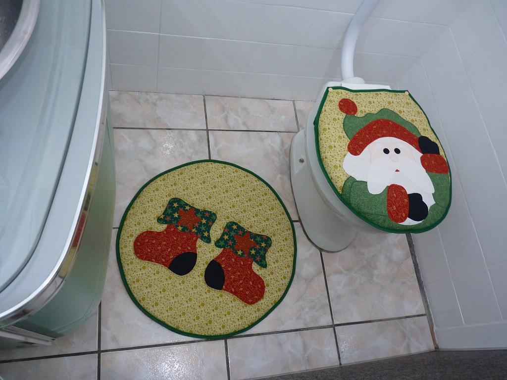 Jogo de Banheiro de Papai Noel www.elo7.com.br/jogo de ban  #752318 1024x768 Balança De Banheiro Frete Grátis