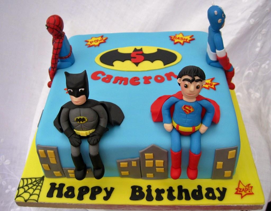 Superhero Cake Made To Co Ordinate With The Birthday Boy
