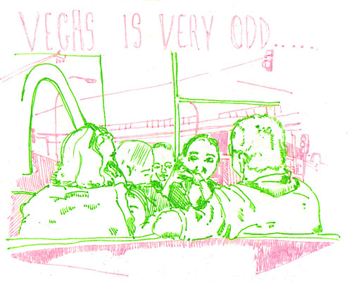 vegas is very odd | by Rebecca French Illustration