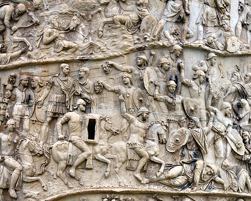 Rome - Trajan's Column AD113 - spiral bas-relief commemorating victory in Dacian Wars | by edk7