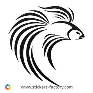 Stickers-Factory-Decal-Betta-splendens-Siamese-05916 | by Stickers-Factory
