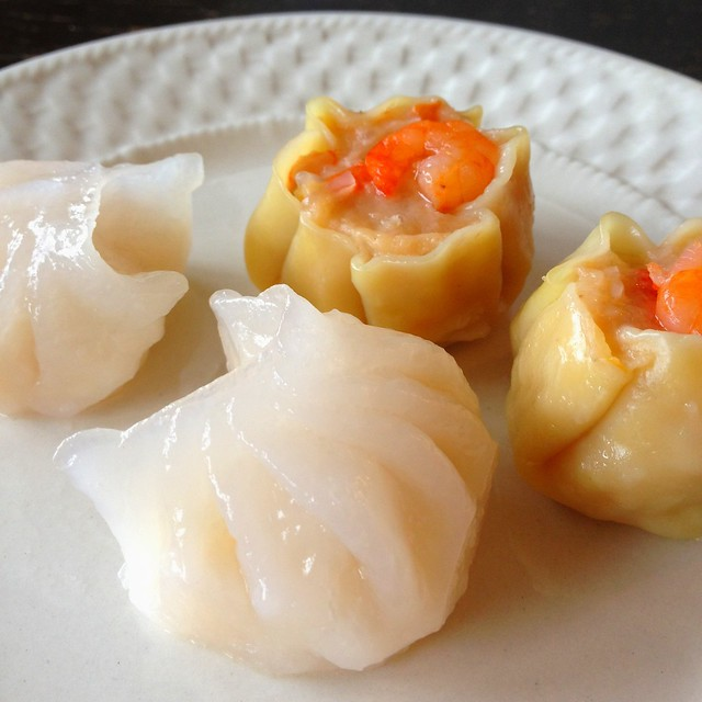 Shrimp Har Gow and Shrimp Shu Mai