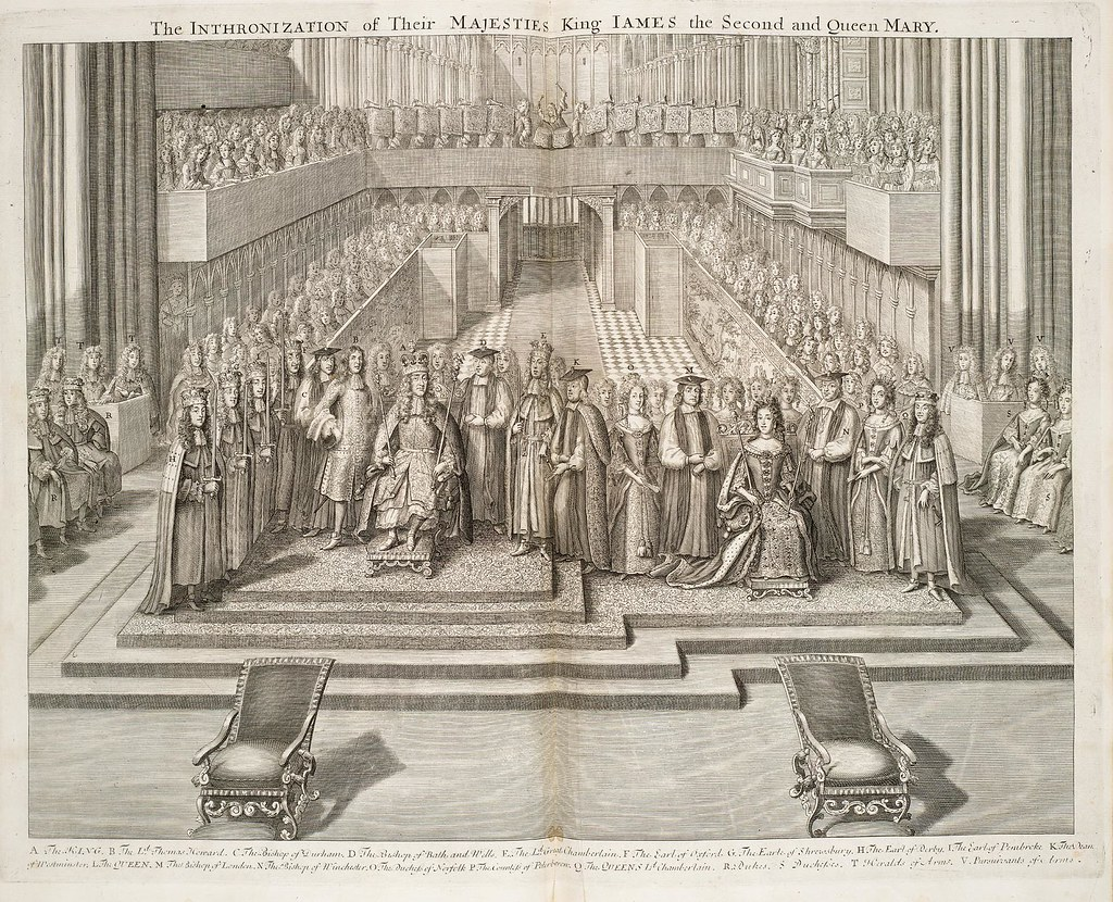 coronation of james ii king of england and queen mary of