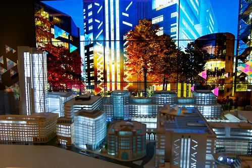 Model of Broadgate with Power Point Projection | by picaddict