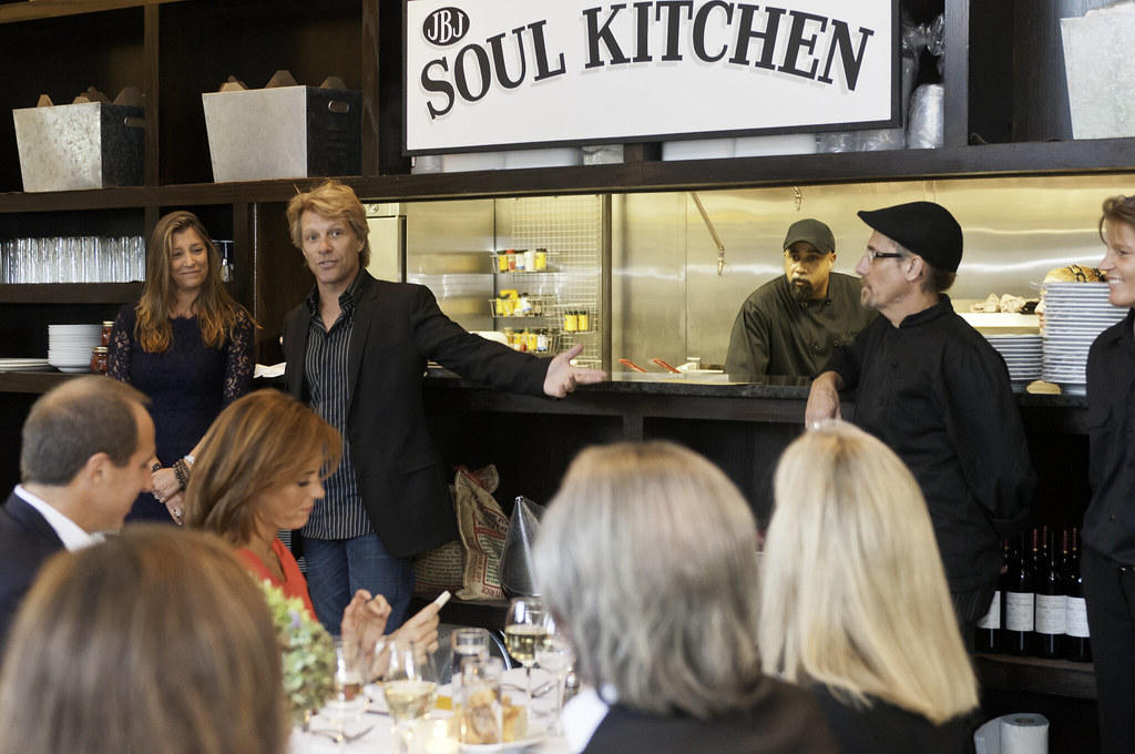 jon bon jovi welcoming guests to soul kitchen by jbj soul kitchen - Jon Bon Jovi Soul Kitchen