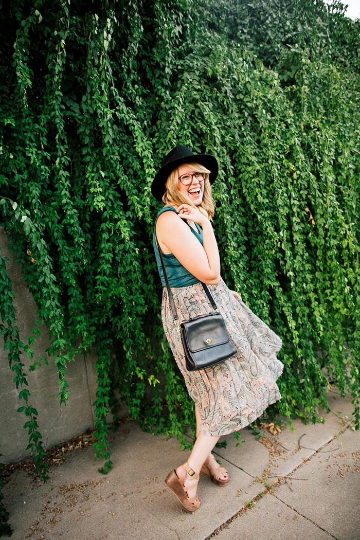 pieceology vintage midi skirt7