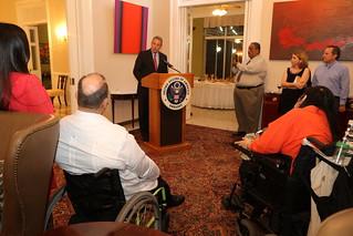 Ambassador John D. Feeley during his speech