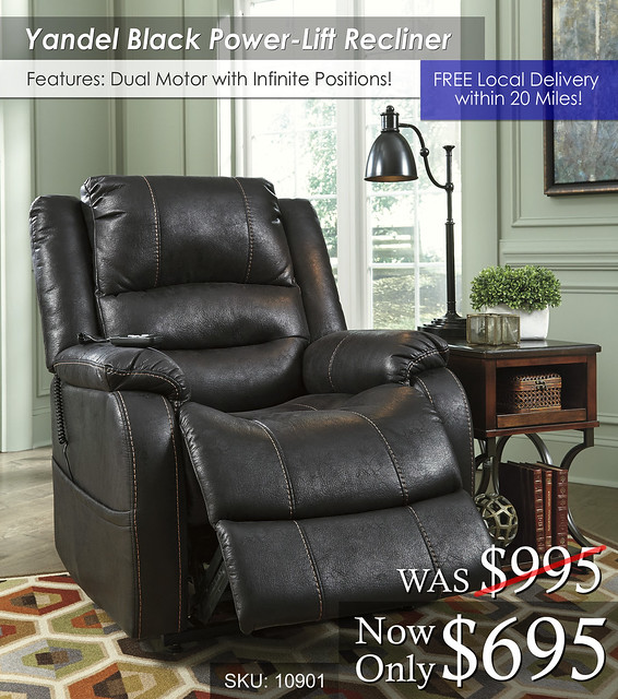 Yandel Black Power Lift Recliner 10901