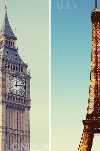 London vs Paris | Icons | by faerie_eriu