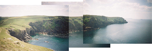 Pentire Point panorama from the Rumps | by stevekeiretsu