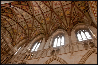 Ceiling above the Main Altar - St Albans Cathedral | by Doug Price.