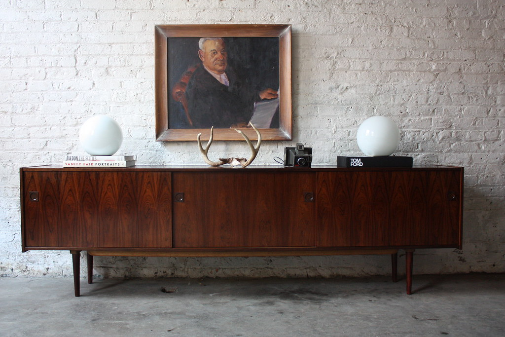 Ravishing Rosewood Danish Mid Century Modern Credenza Den