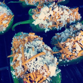 Chorizo and Cheese Stuffed Poblanos on the Grill | by Bill.Roehl