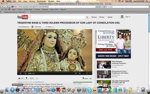 VIDEO of LATIN MASS and THIRD ANNUAL PROCESSION of OUR LADY OF CONSOLATION and CINCTURE, August 14, 2012 | by Nuestra Señora del Sagrario